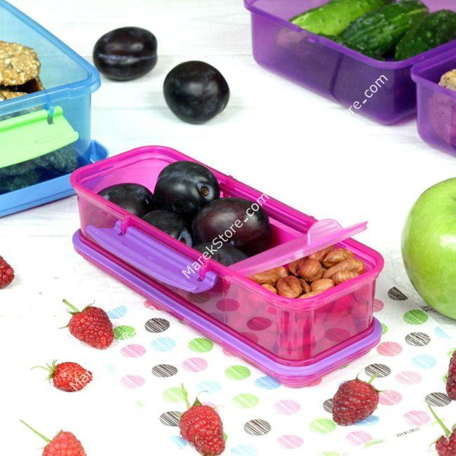 Podłużny pojemnik lunch box na przekąski - 410 ml | SISTEMA LUNCH SNACK ATTACK