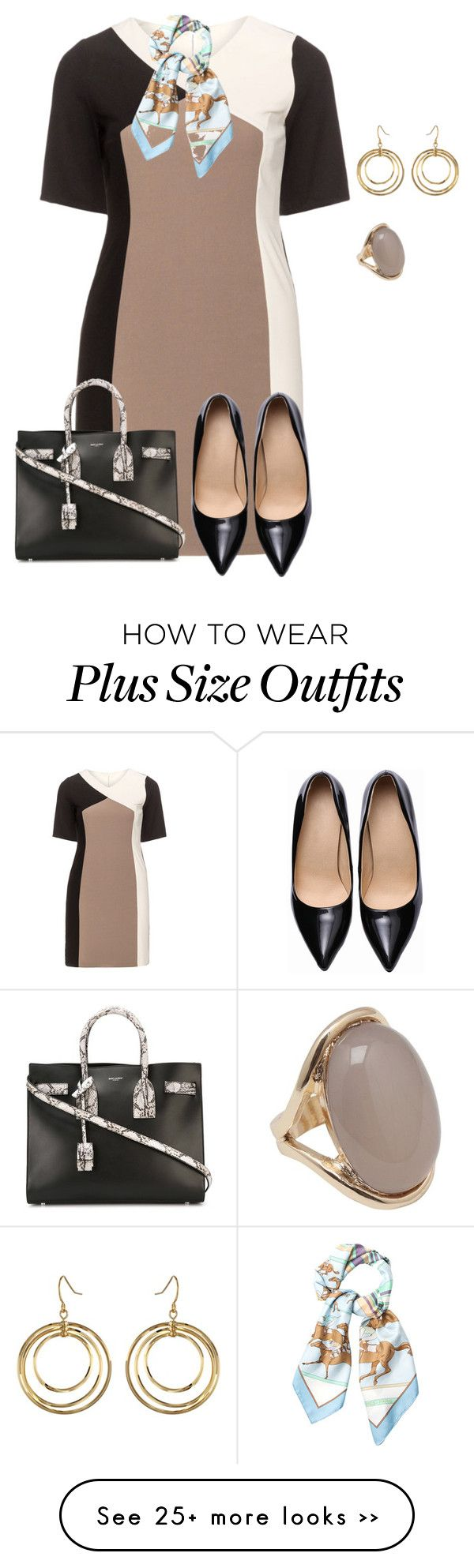 """""""plus size monday business"""" by kristie-payne on Polyvore"""