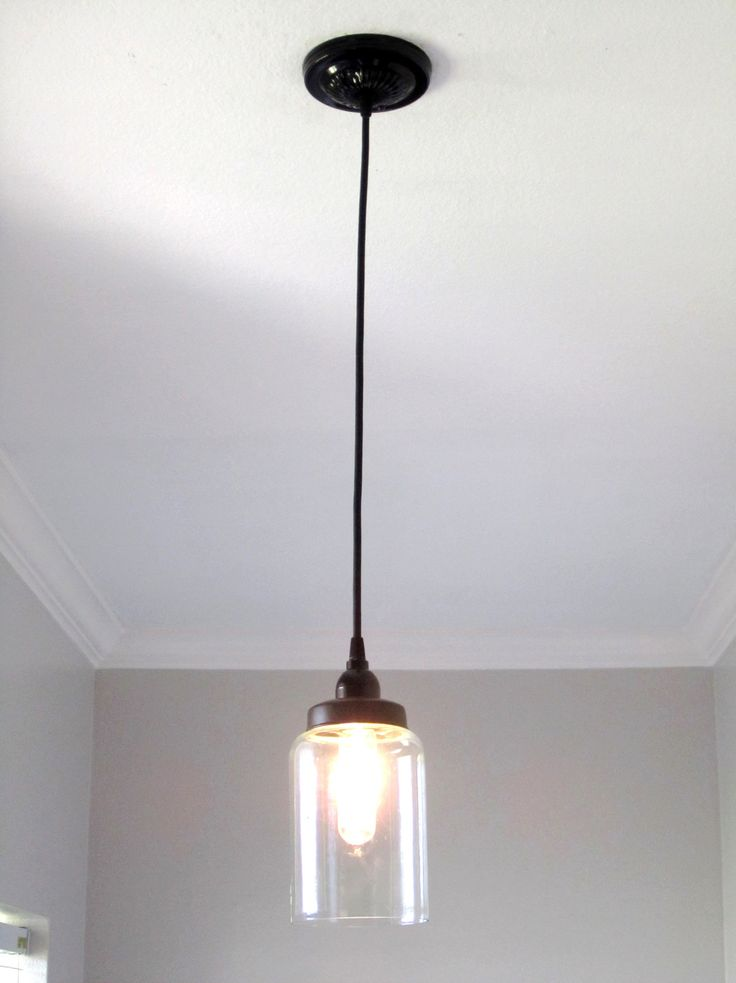 The perfect glass pendant light! It has one glass cylinder with a 40 Watt light bulb. It is approximately 7.5 inches tall and 4.5 inches in diameter. We recommend not using anything over 60 watts.The
