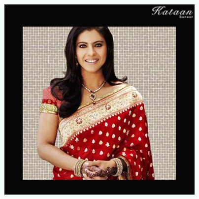 #Kajol looking stunning in a traditional RED saree