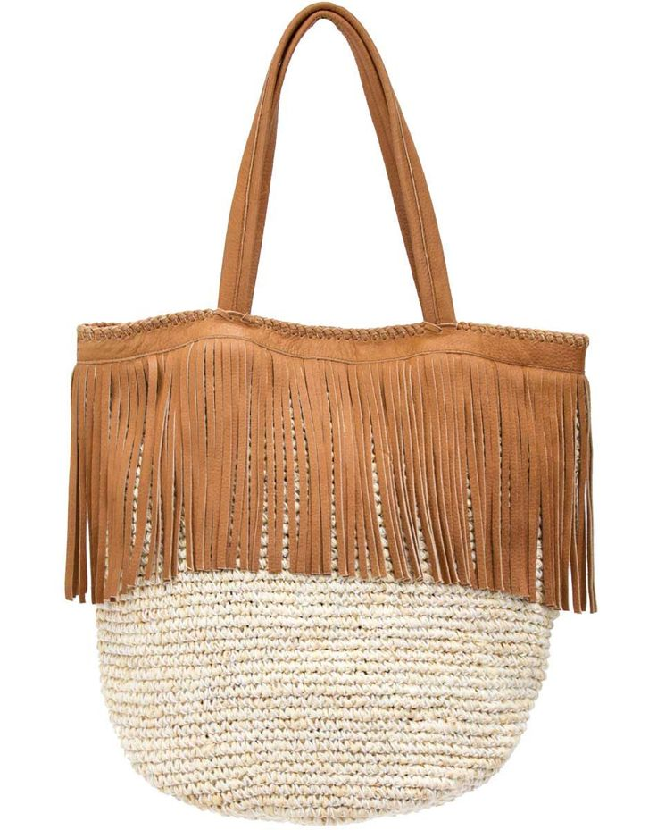 For beach days, sunday farmer's markets, or all the days in between, this leather and straw tote keeps us in a sunny state of mind. Featuring an interior zip pocket and cotton canvas lining for added
