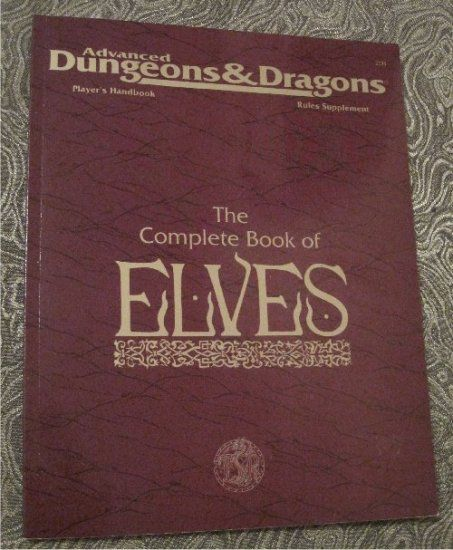 The Complete Book of Elves Advanced Dungeons & Dragons Player's Handbook Rules Supplement $5