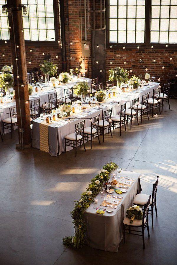 The Industrial-Style Soirée Wedding Table Setting Decor Ideas / http://www.deerpearlflowers.com/industrial-wedding-ceremony-decor-ideas/