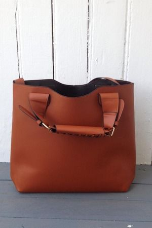 Vegan Leather Shopping Bag