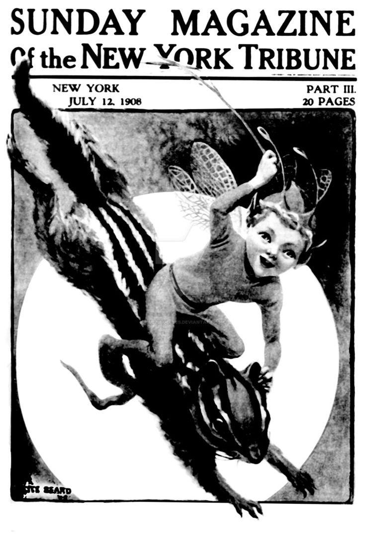 Alice Beard Fairy on Chipmunk vintage newspaper by Sue2BlueEyes.deviantart.com on @DeviantArt