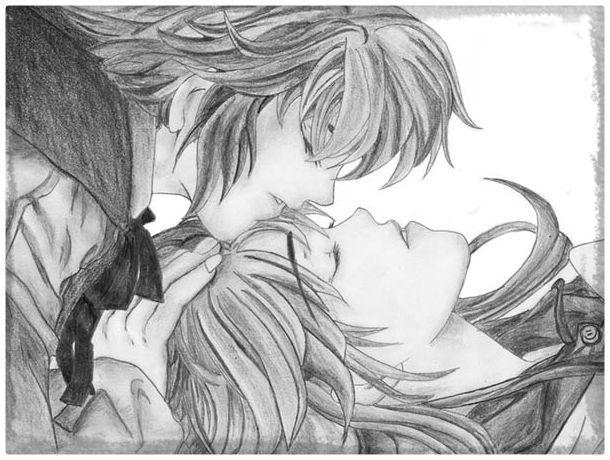 Dibujos De Amor De Parejas Anime A Lapiz Dibujos De Amor De Pareja Dibujos De Amor Dibujos