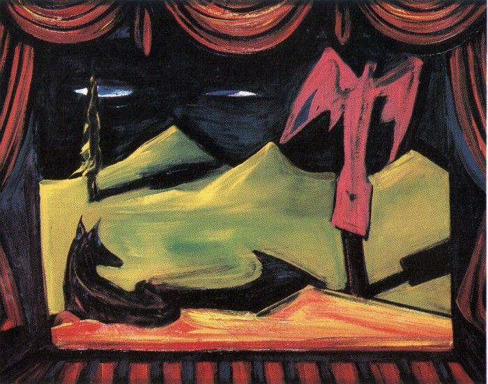 El Kazovszkij (1948-2008), Kis purgatórium, 1993, olaj, fa, 60 x 80 cm
