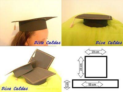 CATEQUISTA LETICIA - : CHAPÉU DE FORMATURA - como fazer chapeu de formatura - passo a passo ! lembrança !