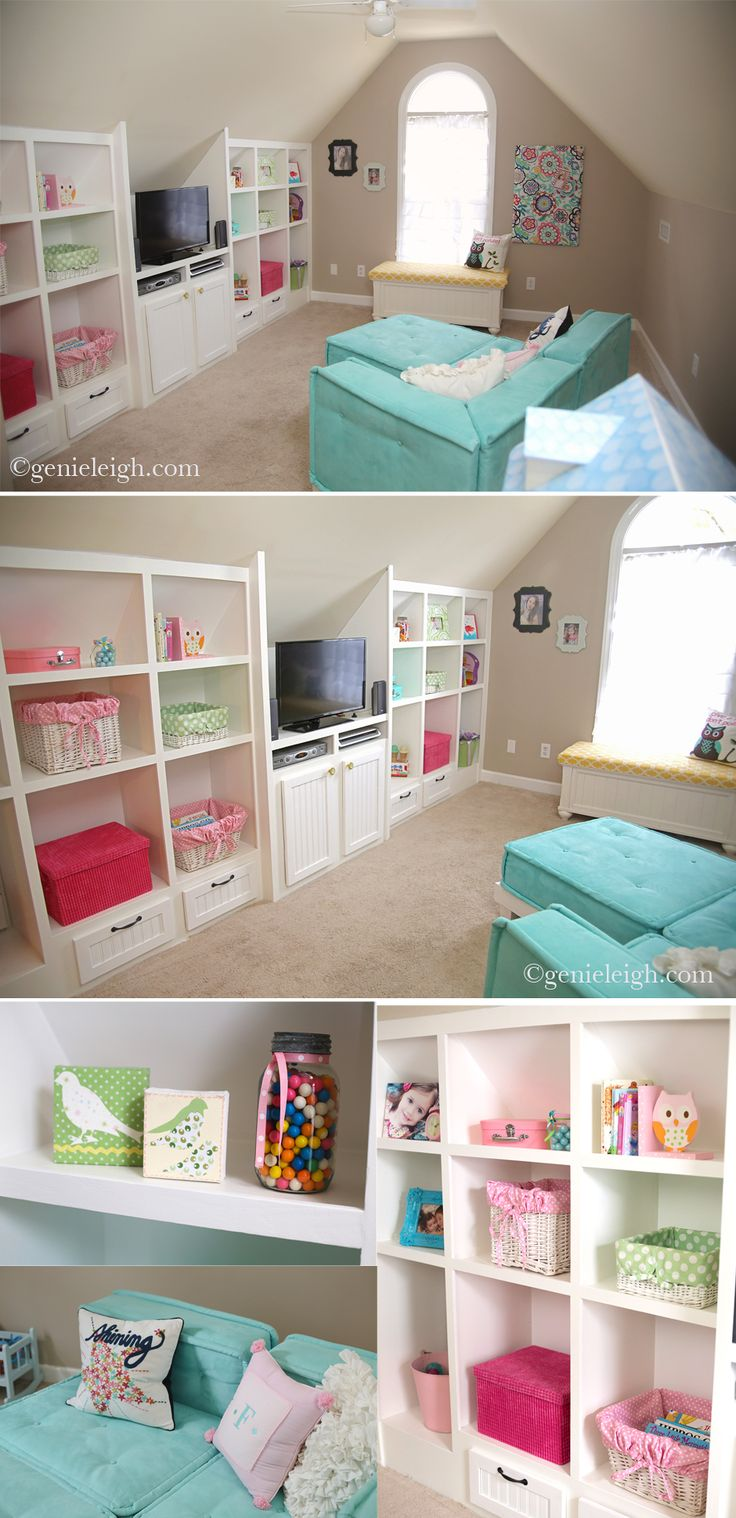 Bonus Room – Remodel. Maybe different colors but I like the design. Would be awesome for a playroom.