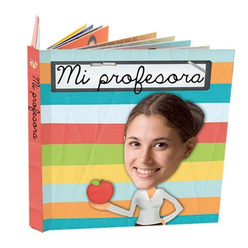 """Cuento personalizado """"Mi Profe"""". Regalo ideal para regalar a profesores de infantil y primaria. Puedes adjuntar la foto del profesor, y de los alumnos de la clase. Un regalo ideal y muy emotivo para regalar al final del curso, y así tener un recuerdo para toda la vida de sus alumnos."""