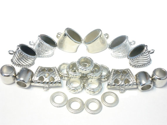 Free Shipping 24pcs DIY Silver Scarf Bail Rings CCB by CoreInc, $21.99