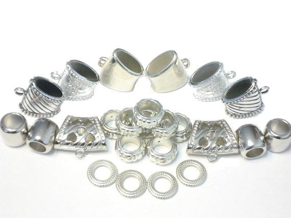 Free Shipping 24pcs DIY Silver Scarf Bail Rings CCB by CoreInc, $21.99