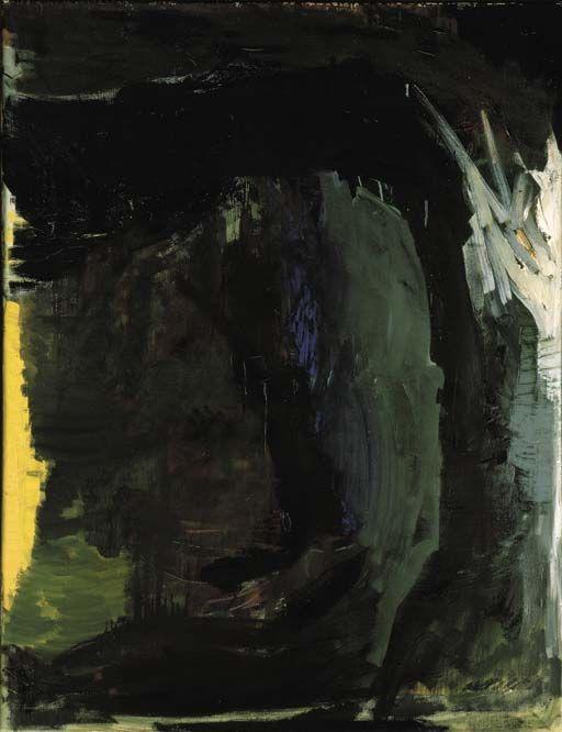 Per Kirkeby (Danish, b. 1938), Messe, 1982. Oil on canvas, 120 x 80 cm.