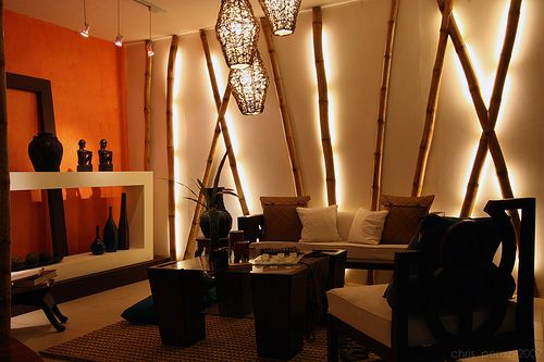 Decorate the walls of your house with bamboo sticks for How to decorate bamboo sticks
