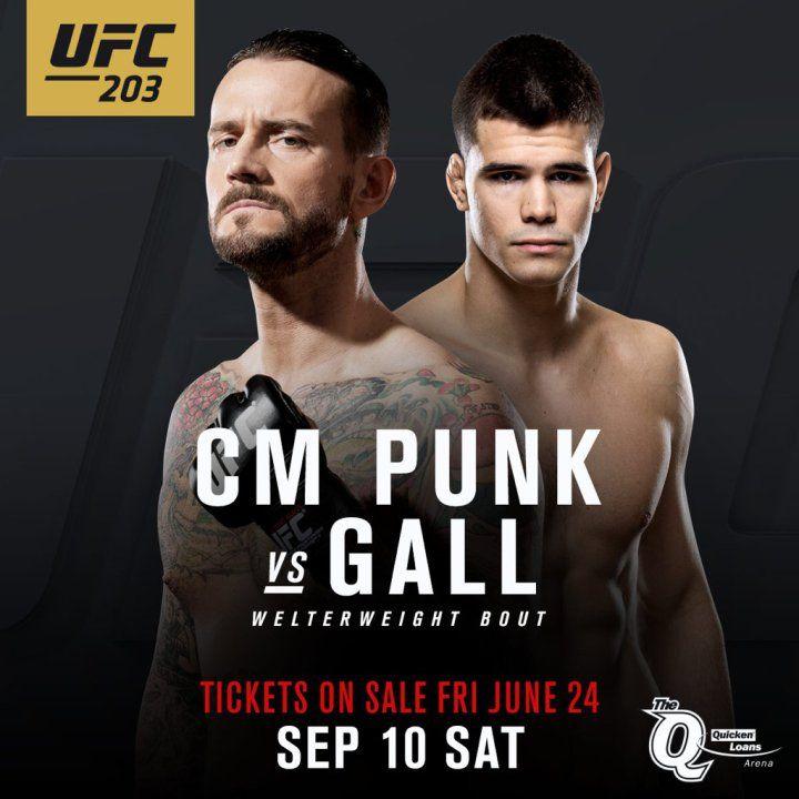 CM Punk vs. Mickey Gall en UFC 203 (10/09/2016) / Twitter.com/UFC