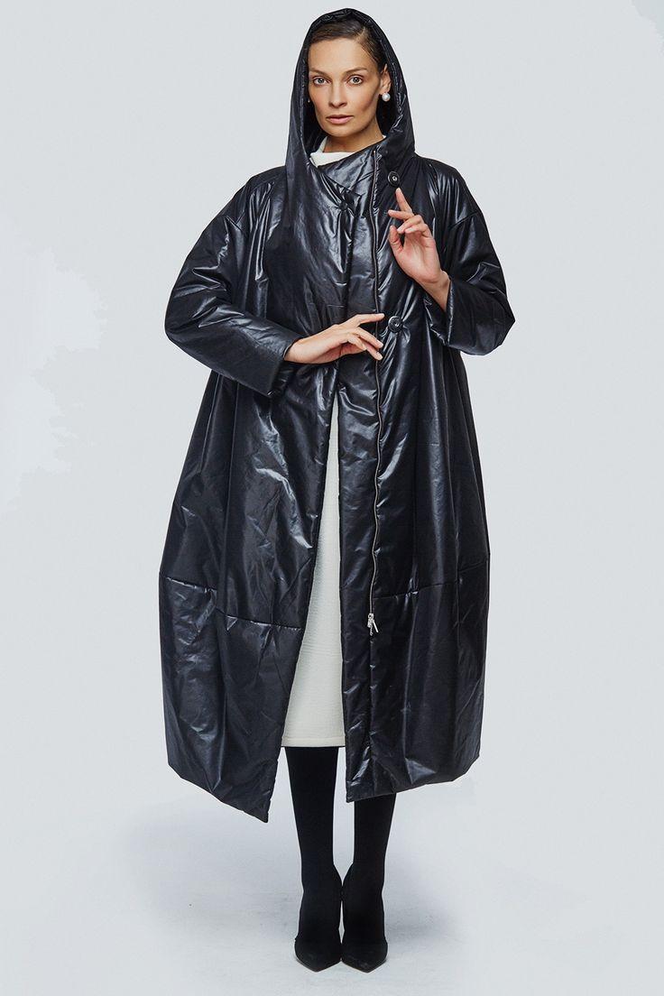 Купить Пальто кимоно-ромб с капюшоном на синтепоне от Lesel (Лесель)