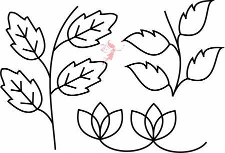 Quilt Leaves Stencil - Fairy Quilt #quiltstencil #fairyquilt #quilting #quiltingideas