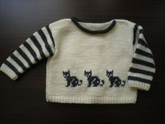 This sweater is made from natural wool,hand made  Size:80 cm