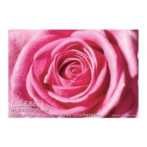 Poetische Postkarte: Liebe ist das Einzige, was nicht weniger wird, wenn wir es verschwenden bei Grusskartenladen.de