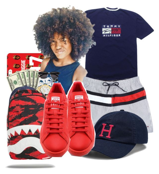 """""""School Today ⚫️"""" by shamyadanyel ❤ liked on Polyvore featuring Tommy Hilfiger and adidas"""