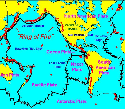 Excellent map of Plate Tectonics