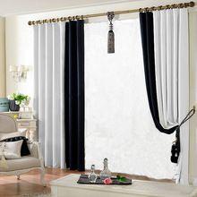 Затемненные шторы для гостиной ткань занавес 150 * 250 см сплошной цвет занавес окна лечение конструкций DIY()
