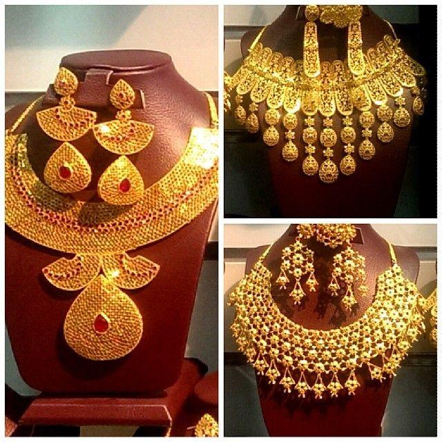 طقومات مطليات باالذهب اشكال مثل الذهب في المصنعيه واللون و مضمون لسنتين لونه مطليات ذهب مجوهرات Statement Necklace Jewelry Fashion