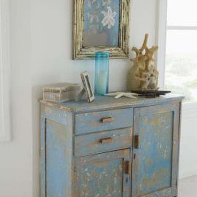 Create an antique look with furniture made from particle board.