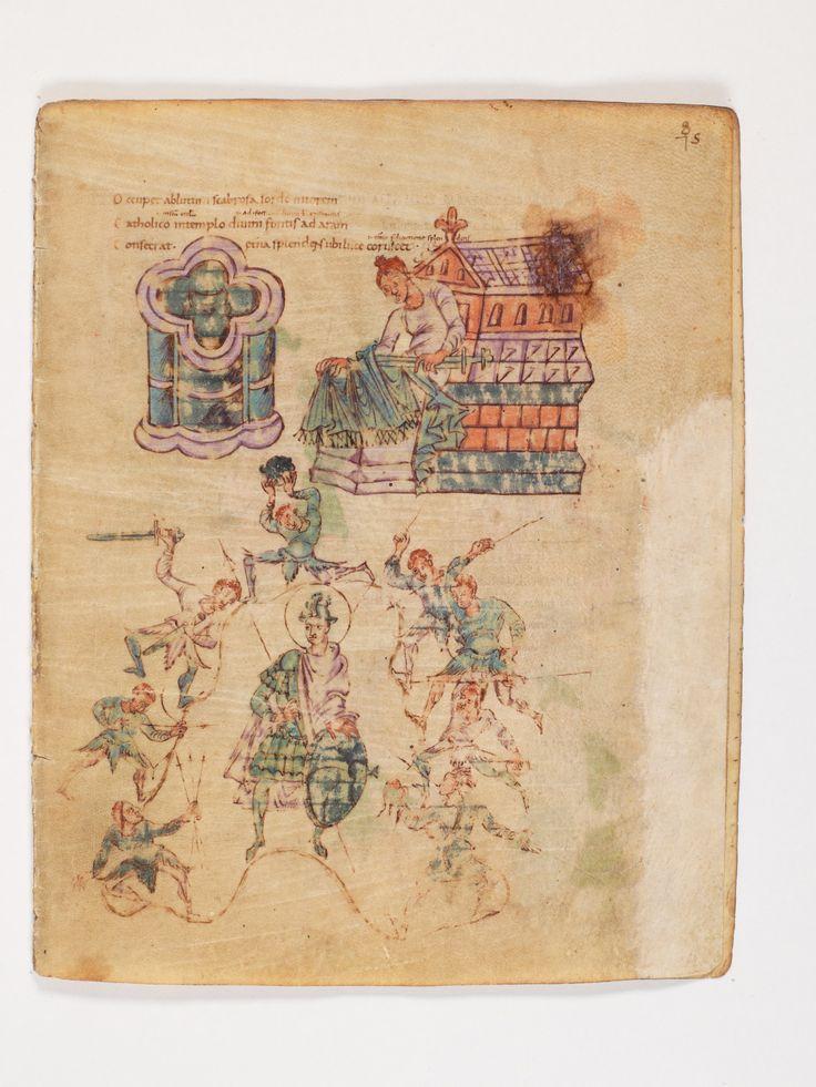 Bern, Burgerbibliothek, Cod. 264, Prudentius, Carmina, p.75, region of Lake Constance, around 900