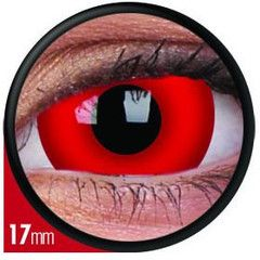 The Daredevil 17mm Crazy Contact Lenses completely take over your eye. These crazy contacts create a bold statement, with their blood red colour and huge intensity.