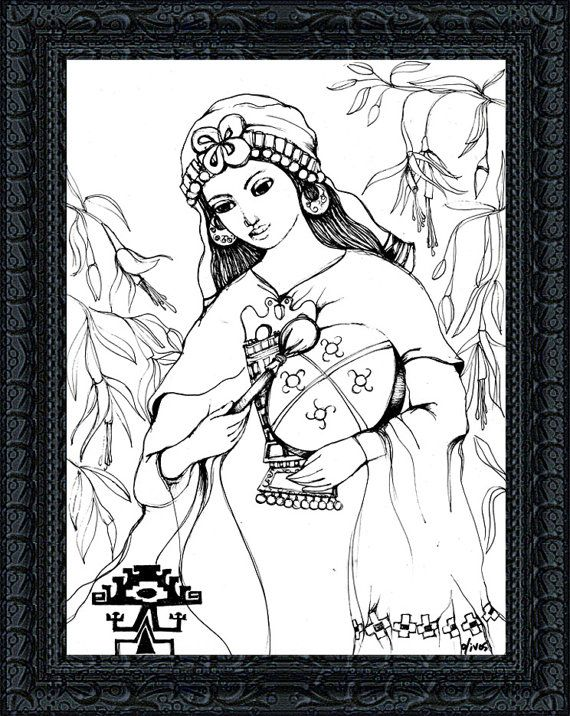 Spiritual Gift - Shaman Art - Mapuche Art -  Sacred Drum - Shamanic Drumming - Native American Art  - Mapuche Shaman