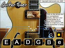 Online Guitar Tuner - Online guitar tuner so you can tune a guitar easily and quickly in standard tuning