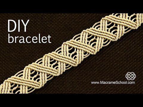 ▶ Wavy Macramé ZigZag Bracelet Tutorial ╳╳╳╳ - YouTube