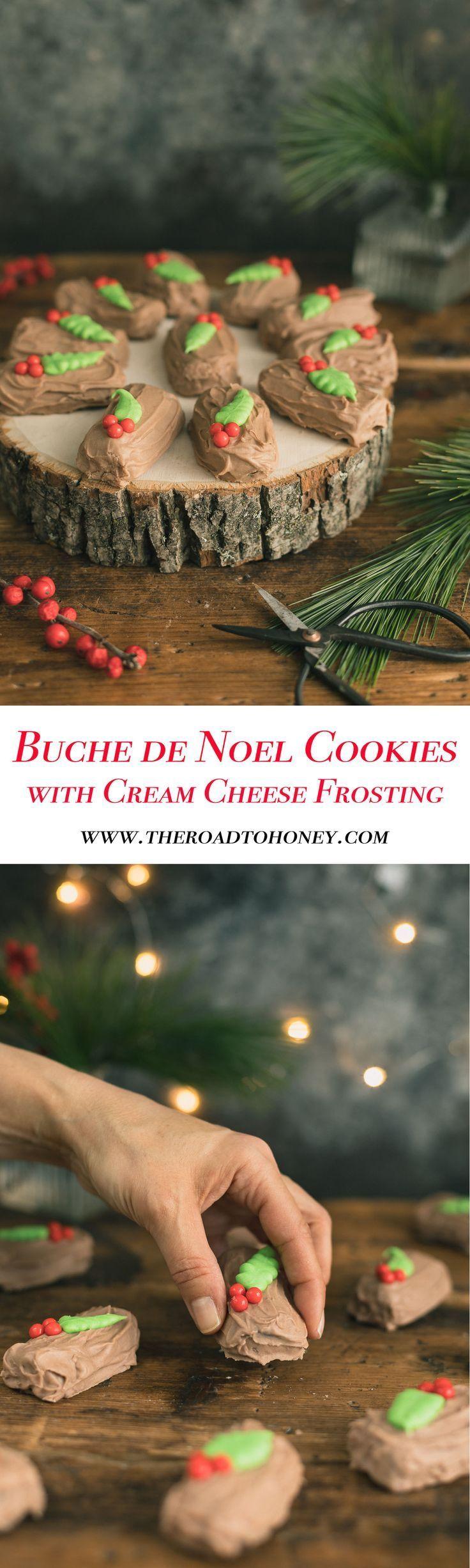 Chocolate Mint Buche de Noel Cookies