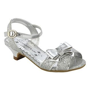 wonderkids toddler girls dress shoe quintinala silver