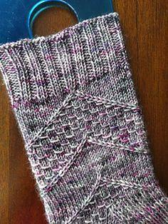 Speckled Space Socks by Amanda Stephens - free