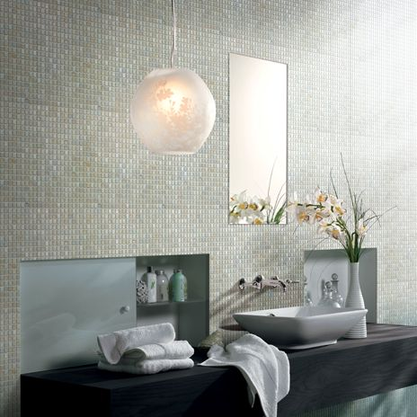 Shimmer Pearl Glass Tile From Arizonatile Com Makes For An