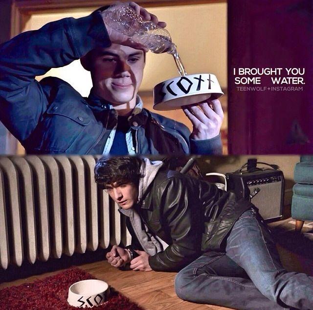 Teen wolf. Oh stiles :).                                    Hahaahahhahahahahahahaahaahahahahhhahahahahahahhaha. The first episode I cried for teen wolf. He never left Scott.
