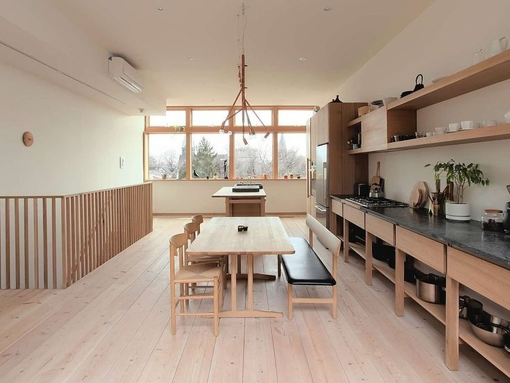 this sort of look for my art studio, side benches that I can pull out and push together in the center of the room for craft nights
