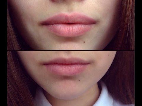 Как увеличить губы? Контур губ ♡ lips makeup - YouTube