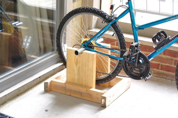 bike exerciser to attach to bike | The only thing he had to purchase was a set of pegs to put on the back ...