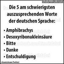 Die 5 am schwierigsten auszusprechenden Worte der deutschen Sprache