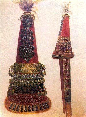 Kazakh woman's wedding headdress (saukele)