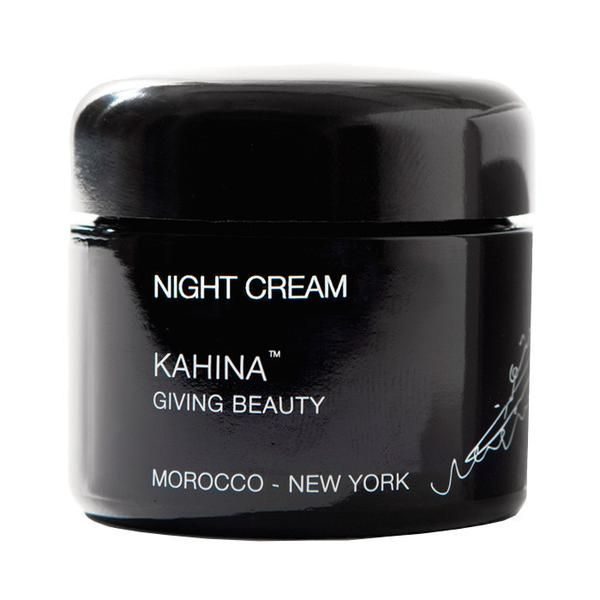 Kahina Giving Beauty Face Cream with Aloe Vera and Lavender boosts collagen, improves skin texture and soothes skin irritation for a more radiant complexion.