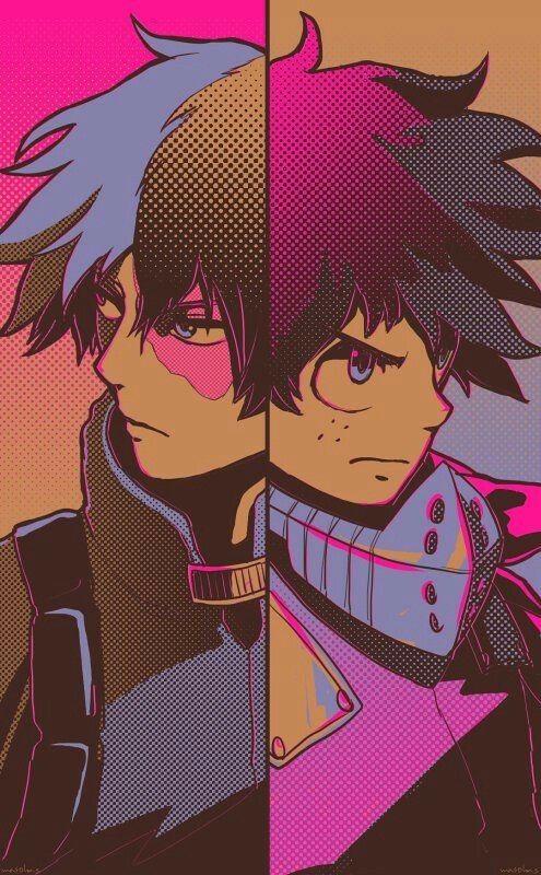 Shouto Izuku Cool My Hero Academia Personajes De