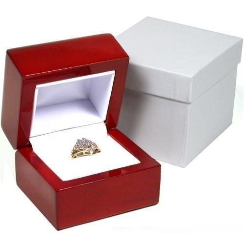 Rosewood Stained Ring Gift Box Jewelry Display by FindingKing. $8.99. Rosewood Stained Ring Gift Box For Jewelry Displays, Showcases & Countertops. This is a new rosewood stained ring gift box. The inside is lined with white faux leather. Unlike most boxes this is a beautifully crafted keepsake. This box will complement the styling of your most elegant pieces. Rosewood stained boxes are the best for any gift or store display. This box includes a two piece white ...