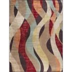 Deco Brown 5 ft. 3 in. x 7 ft. 3 in. Transitional Area Rug