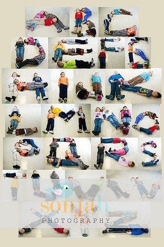 alfabet uitbeelden met elkaar