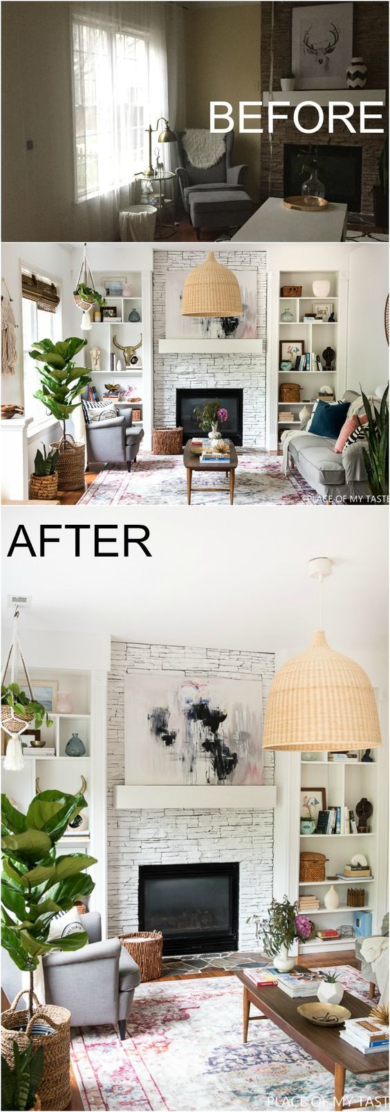 What a fabulous room makeover! This family room design is so eclectic! You gonna have to see it yourself!