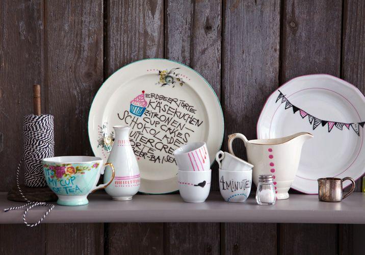 Handmade - Do it yourself: Porzellan bemalen http://handmade.livingathome.de/diy-porzellan-bemalen-62323.html